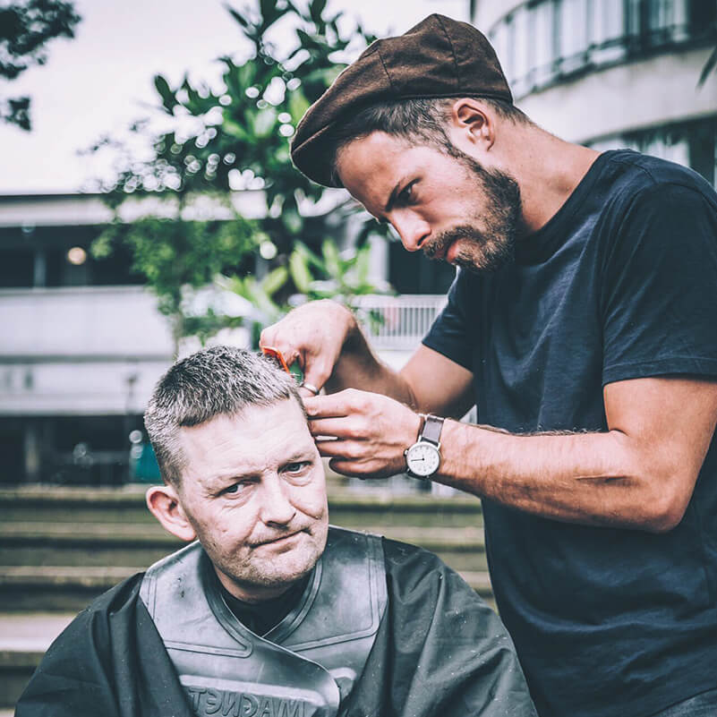 Hairdresser To The Homeless